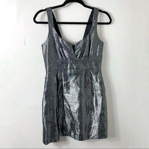 Aqua Dresses Silver Black Sleeveless Mini Dress 2